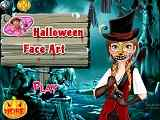 Play Halloween Face Art