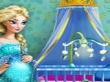 Play Pregnant Elsa Baby Room Deco